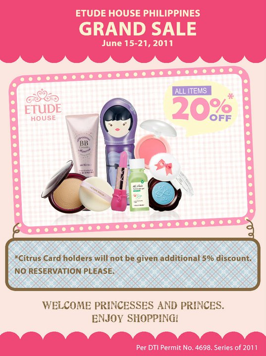 Etude House Philippines Grand Sale poster