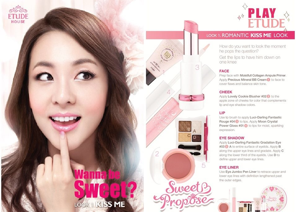 Etude House Sweet Propose Collection is now available in
