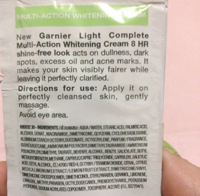 Garnier Light Complete Multi-Action Whitening Cream 2
