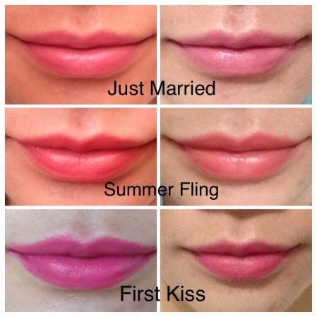 Happy Skin Lippies swatches
